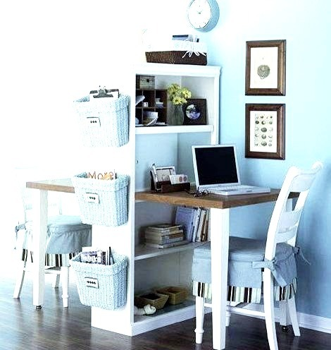 Compact And Functional Double Desk Space