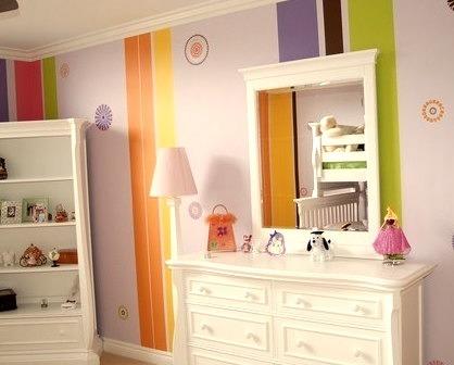 Stencils Stripes Swarovski Crystals Child Bedroom And Bath